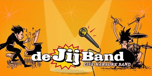 Banner van de JIJ Band - live karaoke band
